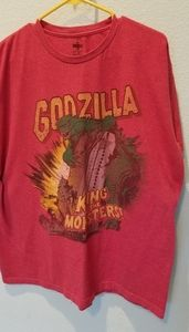 Godzilla t shirt. Red. Men's size XL.